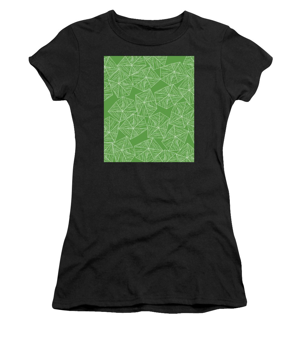 Green Women's T-Shirt (Athletic Fit) featuring the digital art Nature Free by Icto Design