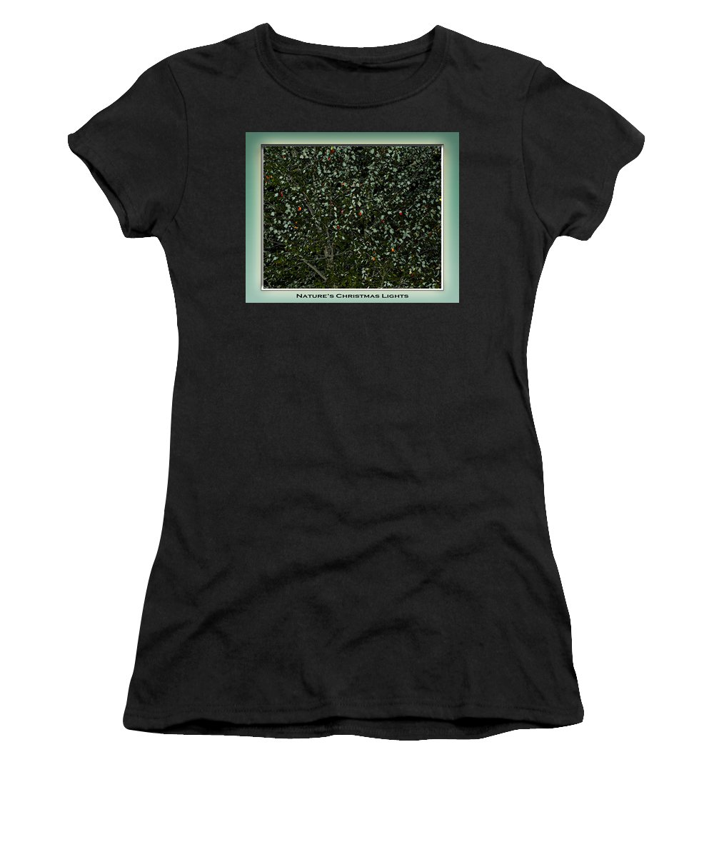 Fall Women's T-Shirt (Athletic Fit) featuring the photograph Nature's Christmas Lights by Gary Adkins