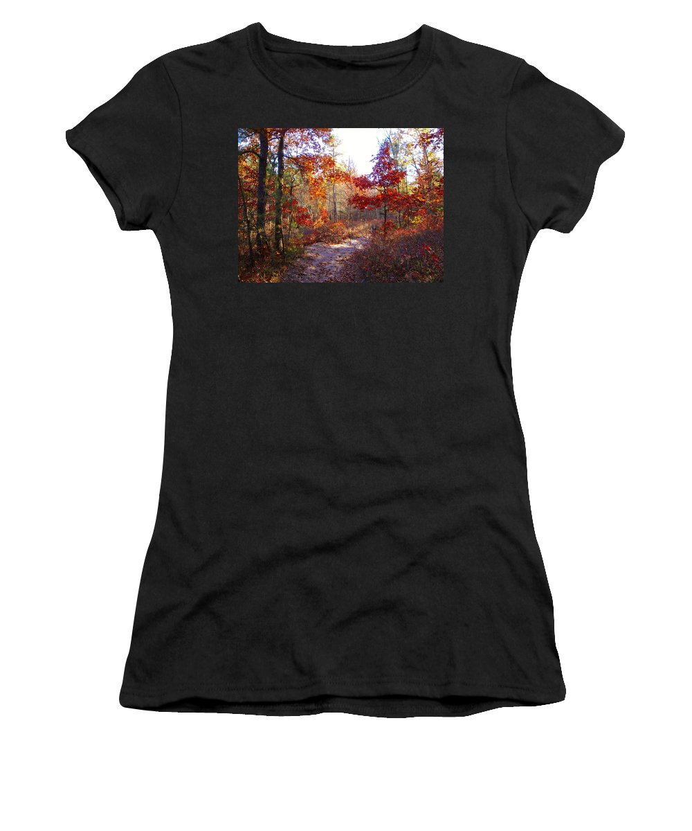 Nature Women's T-Shirt (Athletic Fit) featuring the photograph Nature's Expression-17 by Leonard Holland