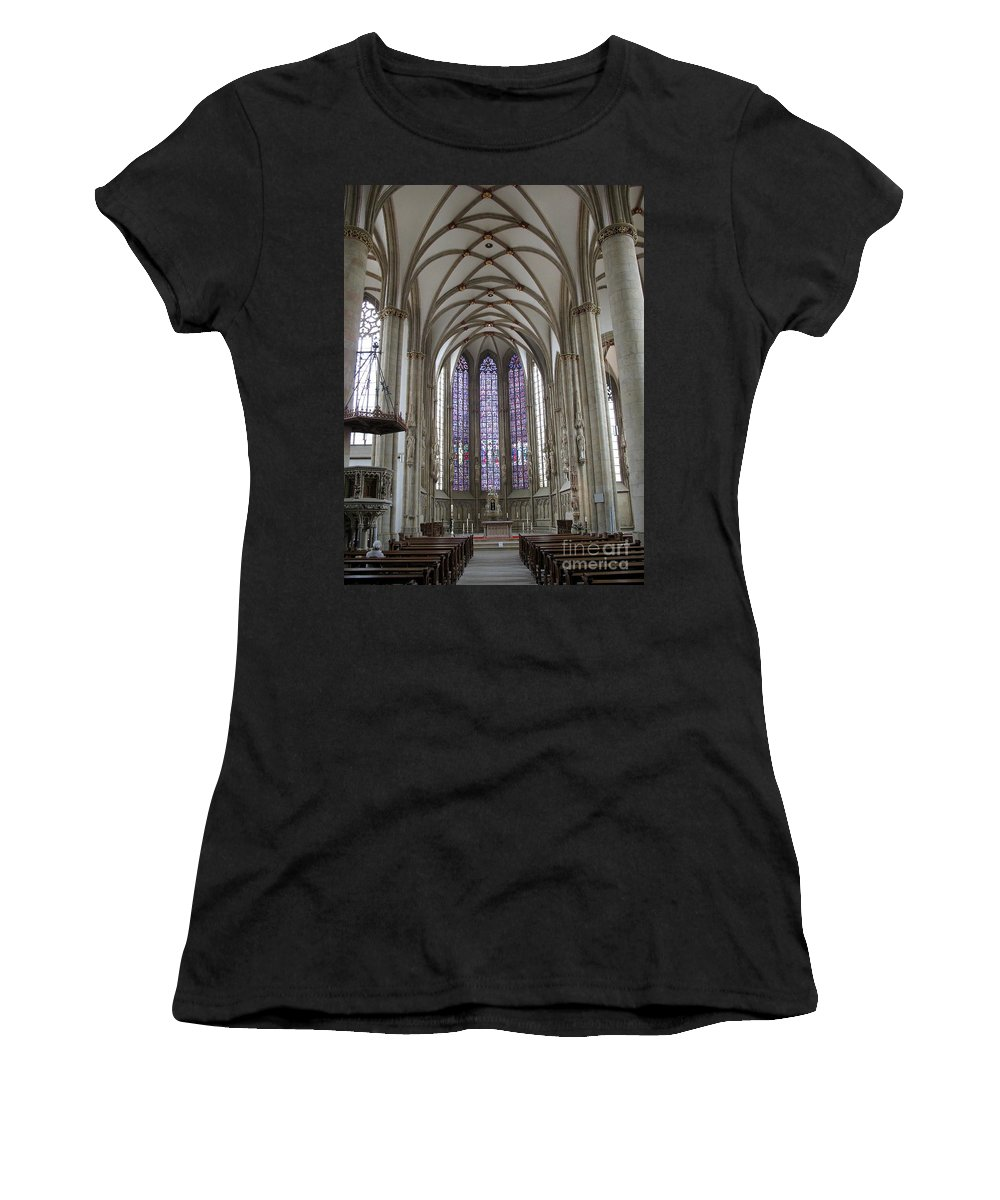 Nave Women's T-Shirt (Athletic Fit) featuring the photograph Nave - St Lambertus - Germany by Christiane Schulze Art And Photography