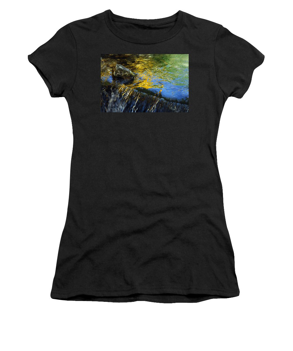 Water Women's T-Shirt (Athletic Fit) featuring the photograph Nearly Swept Away by Donna Blackhall