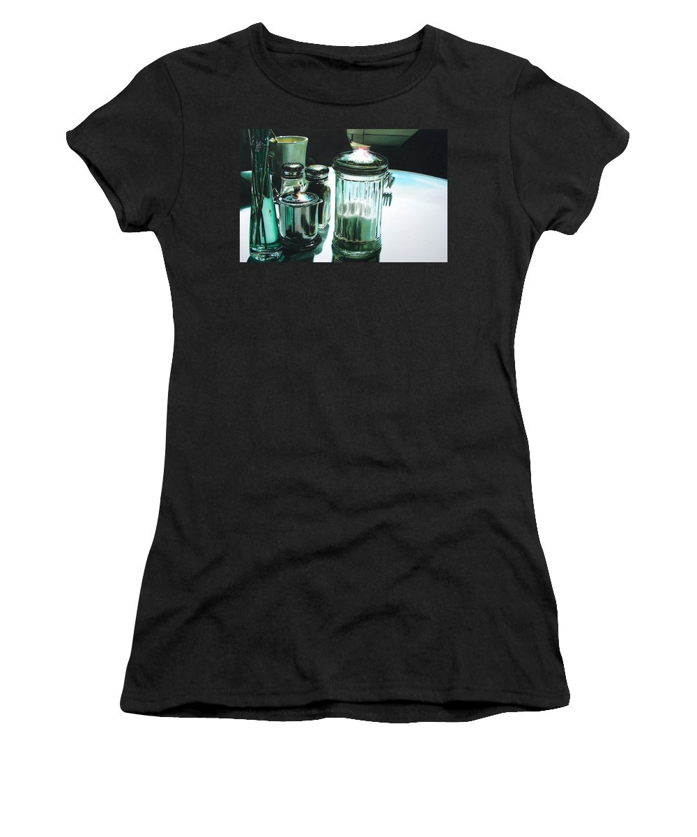 Still Life Women's T-Shirt featuring the painting Necessities by Denny Bond