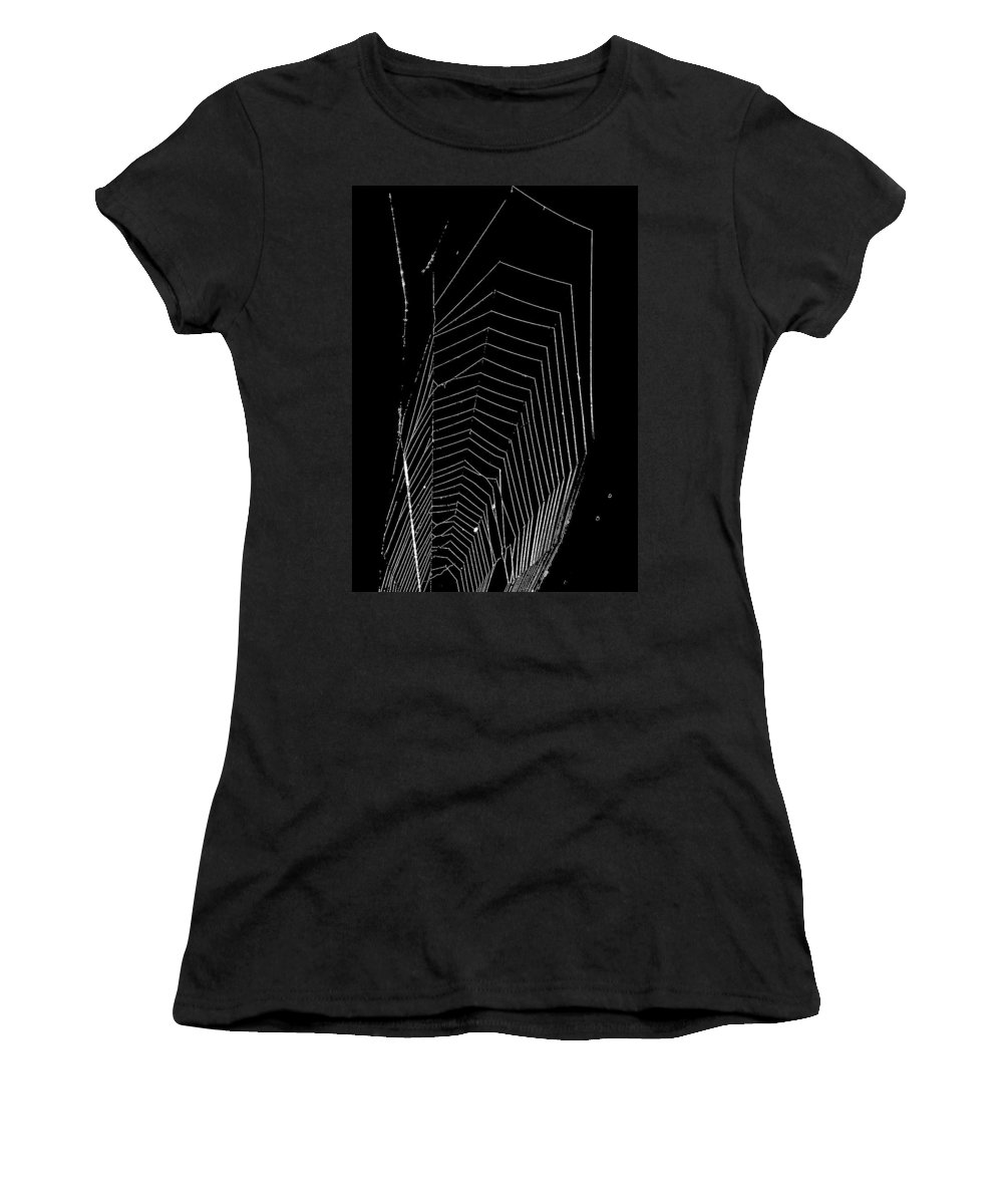 Spider Women's T-Shirt (Athletic Fit) featuring the photograph Negative Space by Steve Harrington
