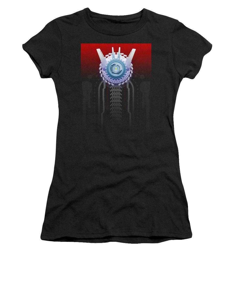 Tech Women's T-Shirt featuring the digital art Neo Tech by Robert Ekeroth