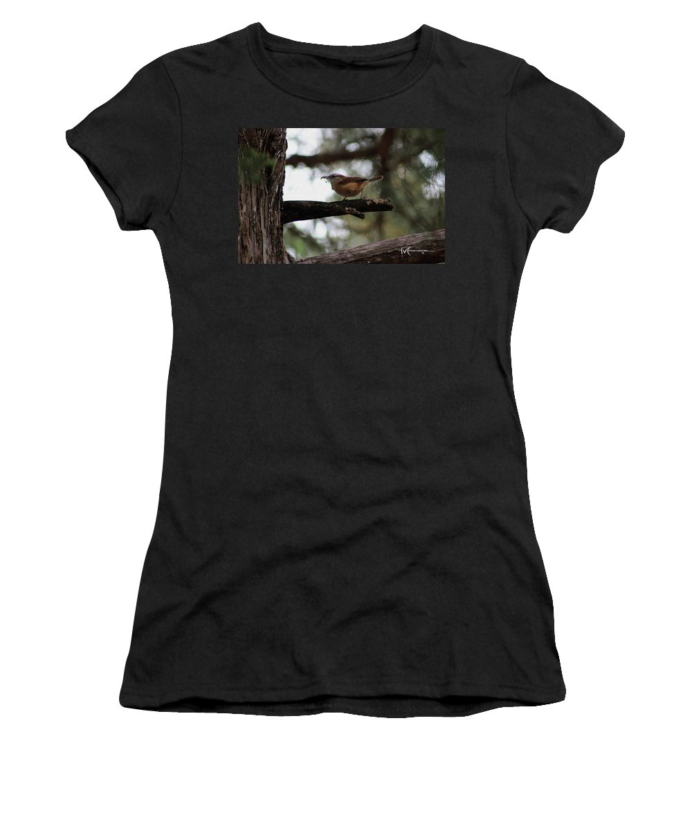 Wildlife Outdoor Images Women's T-Shirt (Athletic Fit) featuring the photograph Nest Kneading by Felipe Gomez