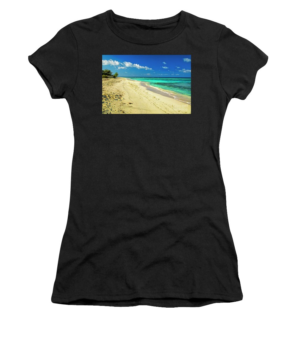 Neverending Women's T-Shirt (Athletic Fit) featuring the photograph Neverending Paradise by Mariola Bitner