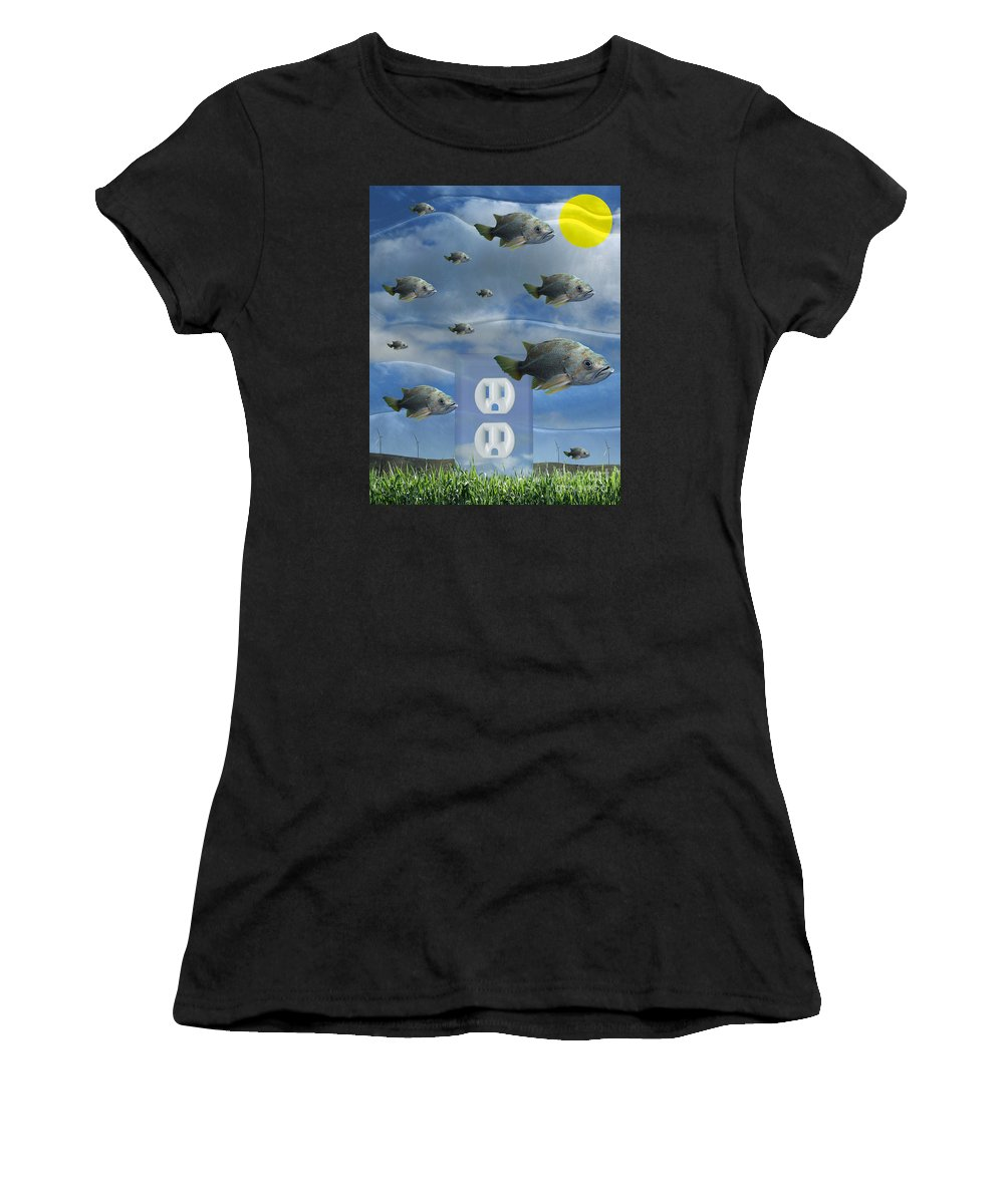 Digital Art Women's T-Shirt featuring the digital art New Energy by Keith Dillon