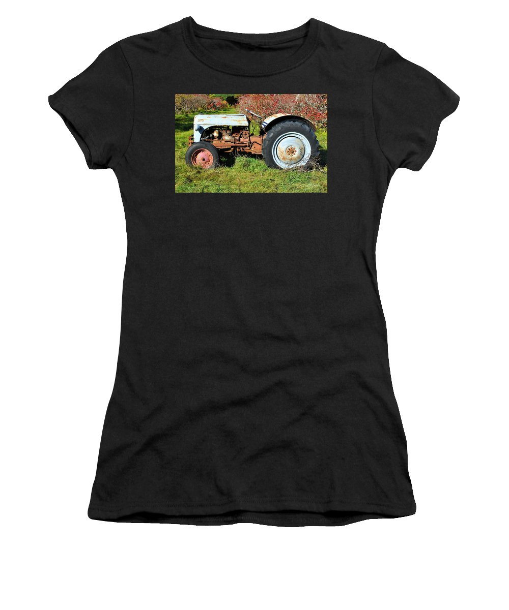 Tractor Women's T-Shirt (Athletic Fit) featuring the photograph New England Ford by Luke Moore
