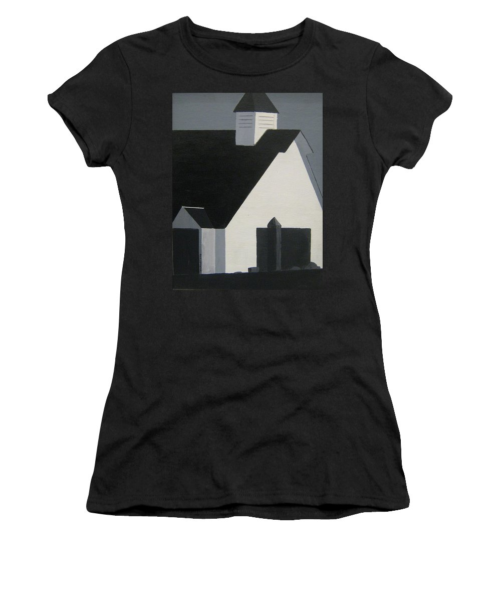 Church Women's T-Shirt (Athletic Fit) featuring the painting New England November by William Riley