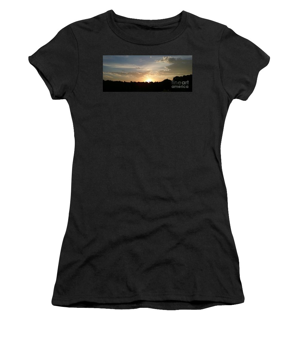 This Photo Was Taken From My Front Porch Women's T-Shirt (Athletic Fit) featuring the photograph New Horizon by Tina Whethers