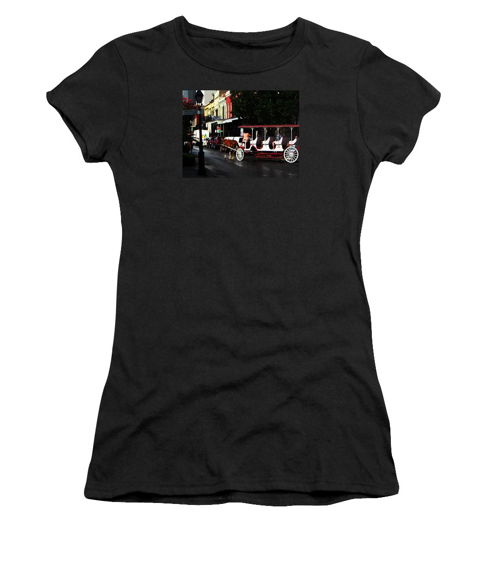 No Women's T-Shirt (Athletic Fit) featuring the photograph New Orleans Horse Carriage by Henry Eastman