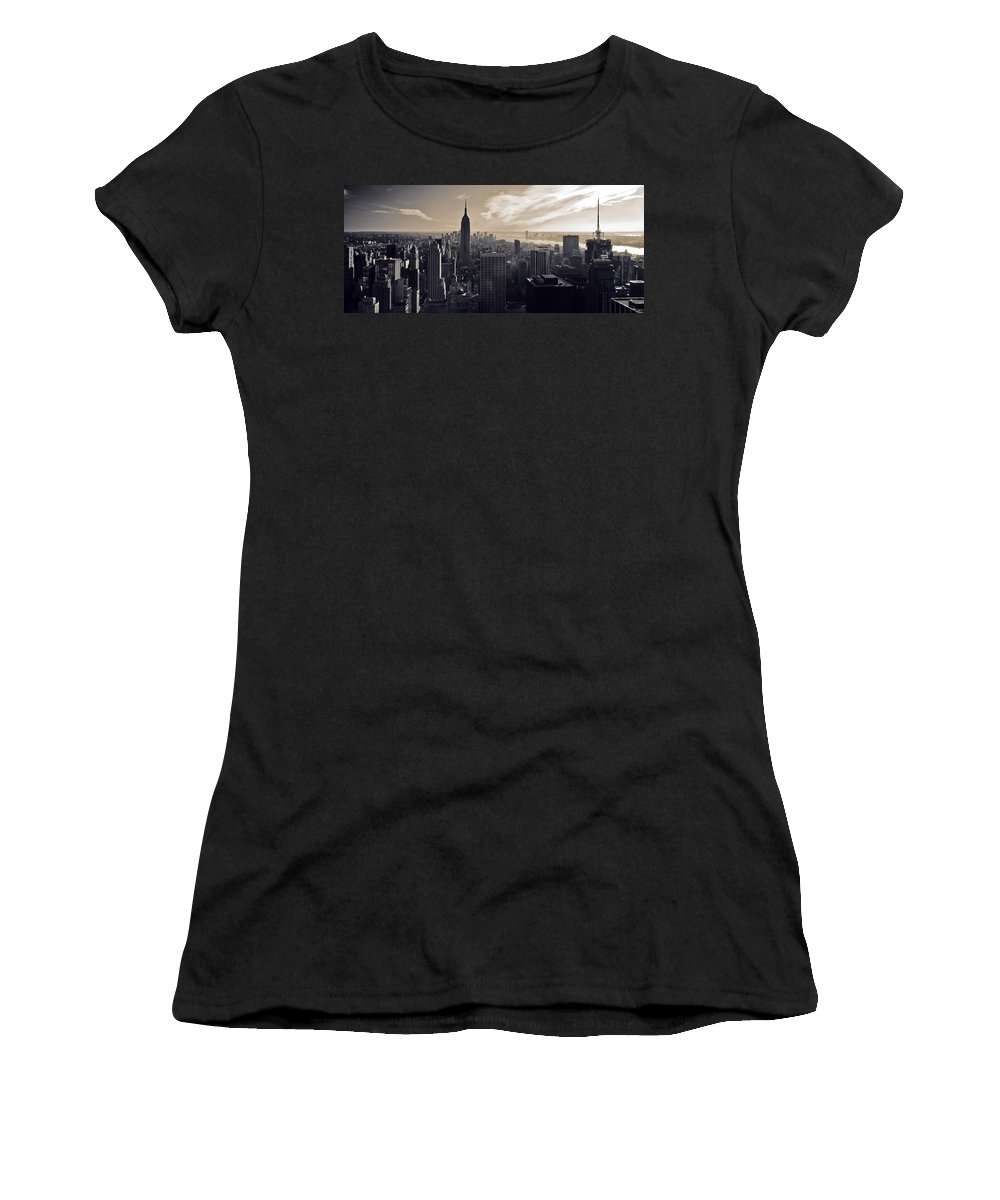 New York Women's T-Shirt (Athletic Fit) featuring the photograph New York by Dave Bowman