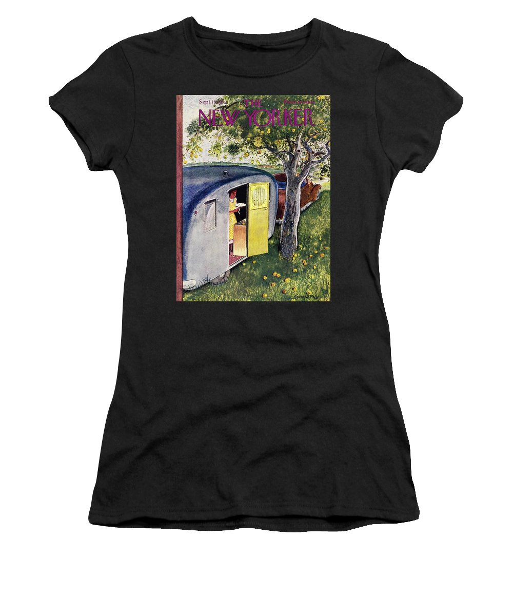 Woman Women's T-Shirt featuring the painting New Yorker September 15 1951 by Garrett Price