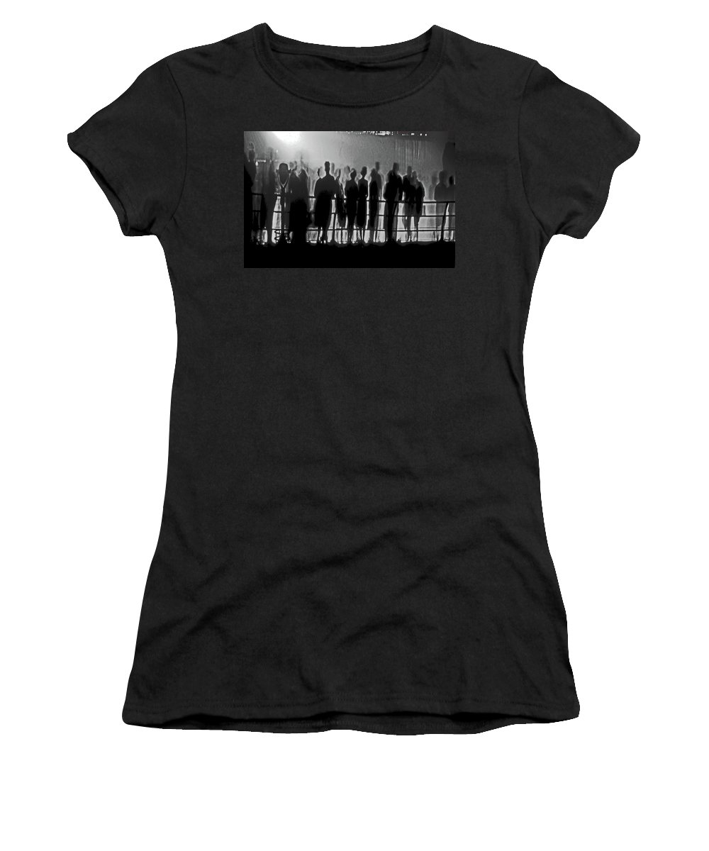 Niagra Falls Women's T-Shirt (Athletic Fit) featuring the photograph Niagra Falls 1959 by Guy Ciarcia
