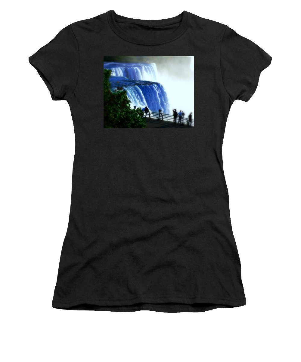 Niagra Falls Women's T-Shirt (Athletic Fit) featuring the photograph Niagra Falls by Perry Webster