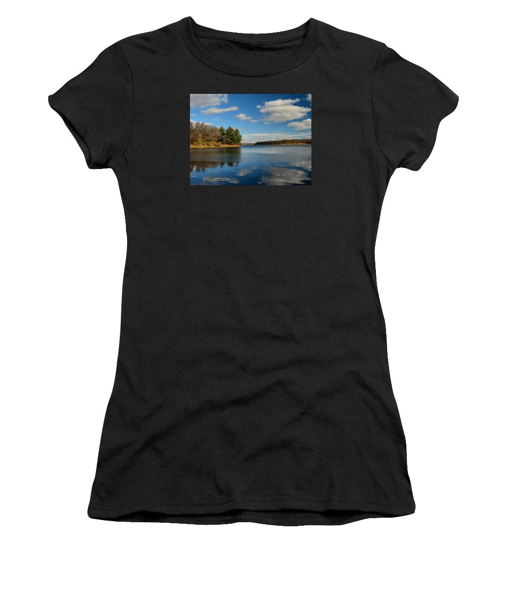 Lake Women's T-Shirt (Athletic Fit) featuring the photograph Nice Day by Robert Coffey