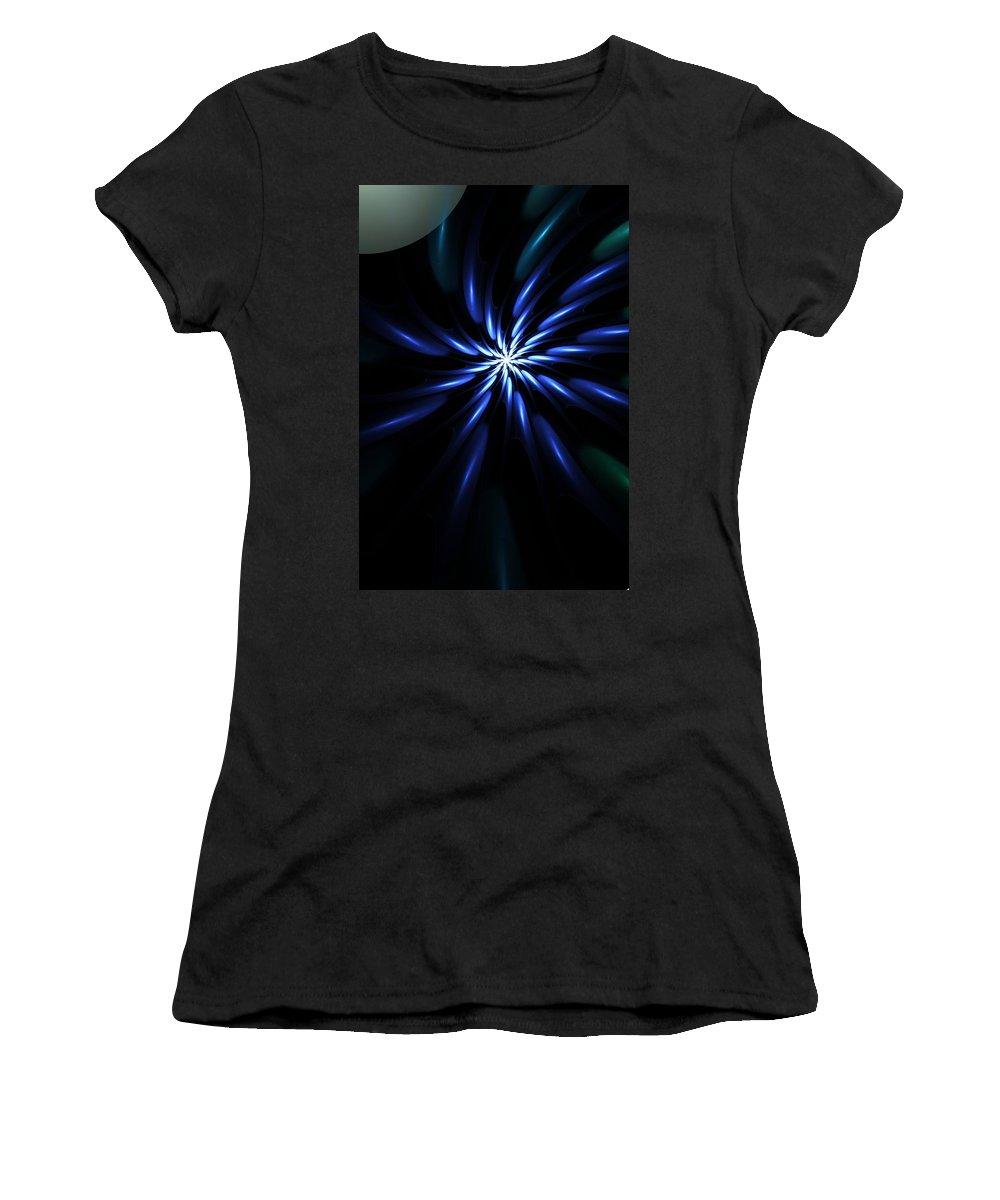Fine Art Digital Art Women's T-Shirt (Athletic Fit) featuring the digital art Night Bloom by David Lane