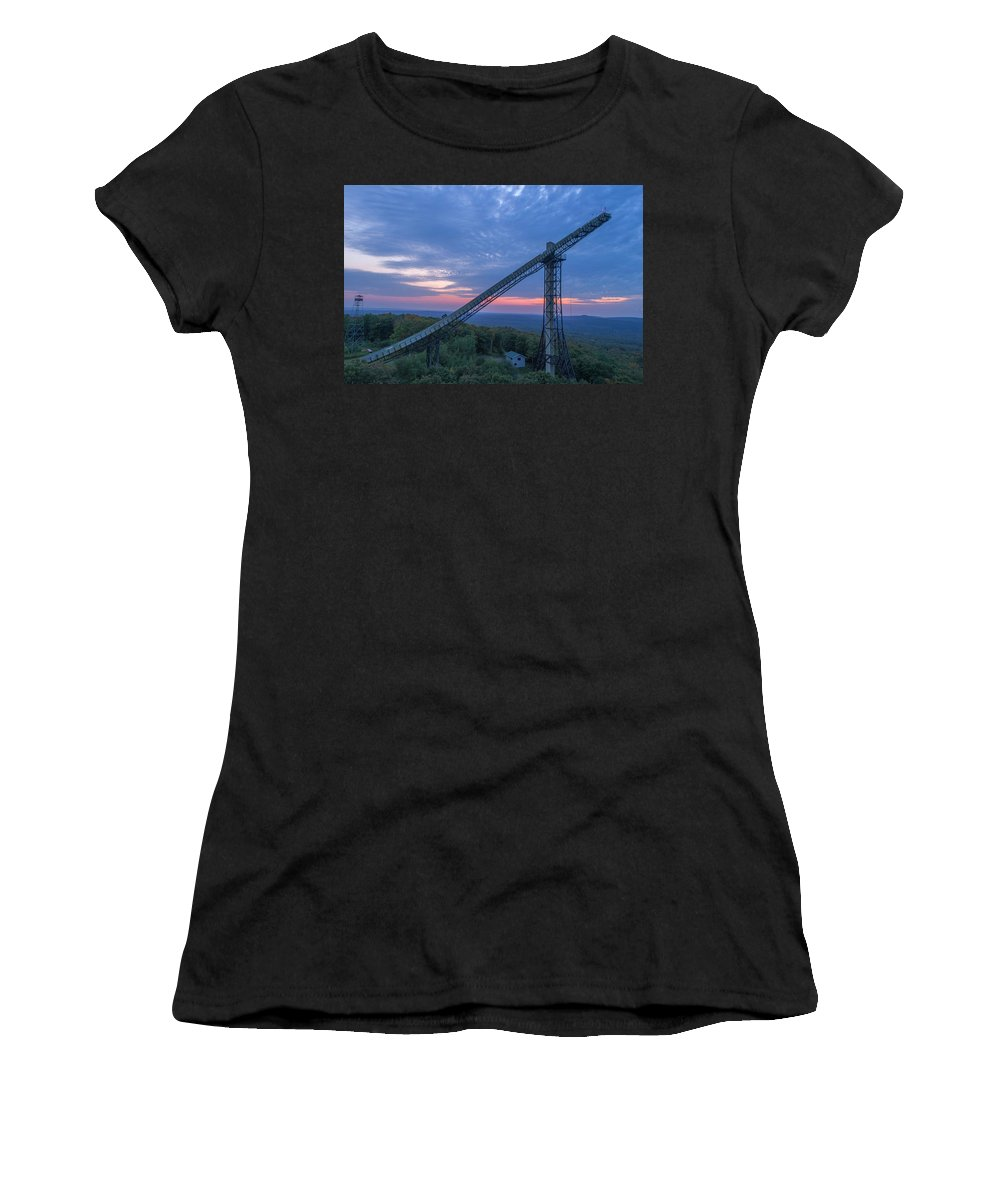 Marquette Women's T-Shirt (Athletic Fit) featuring the digital art Night Fall by Bradley J Nelson