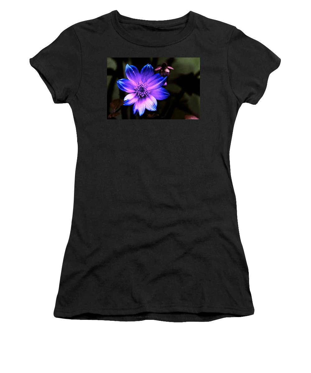 Flower Women's T-Shirt (Athletic Fit) featuring the photograph Night Flower by Ca Photography
