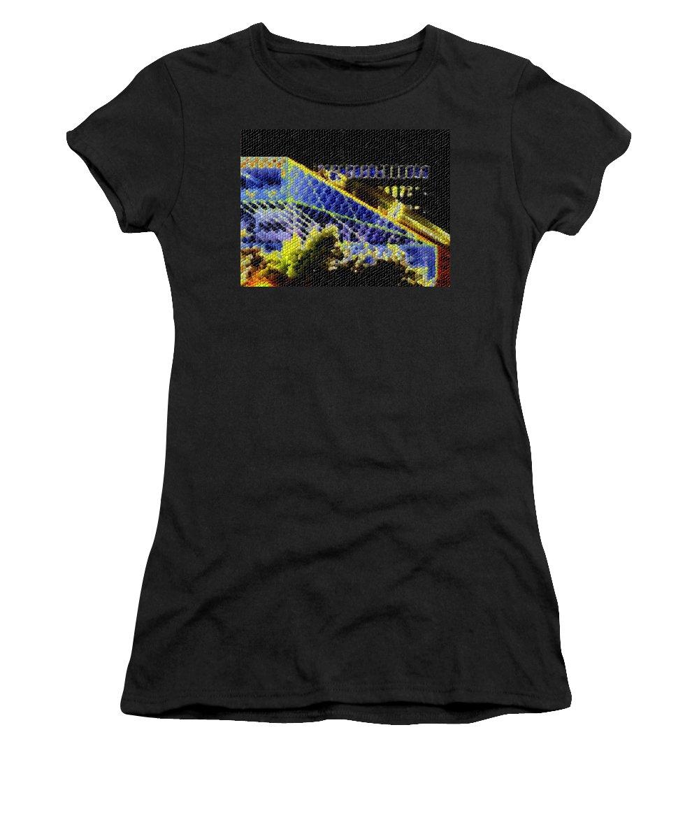 Seattle Women's T-Shirt featuring the photograph Night Lights by Tim Allen