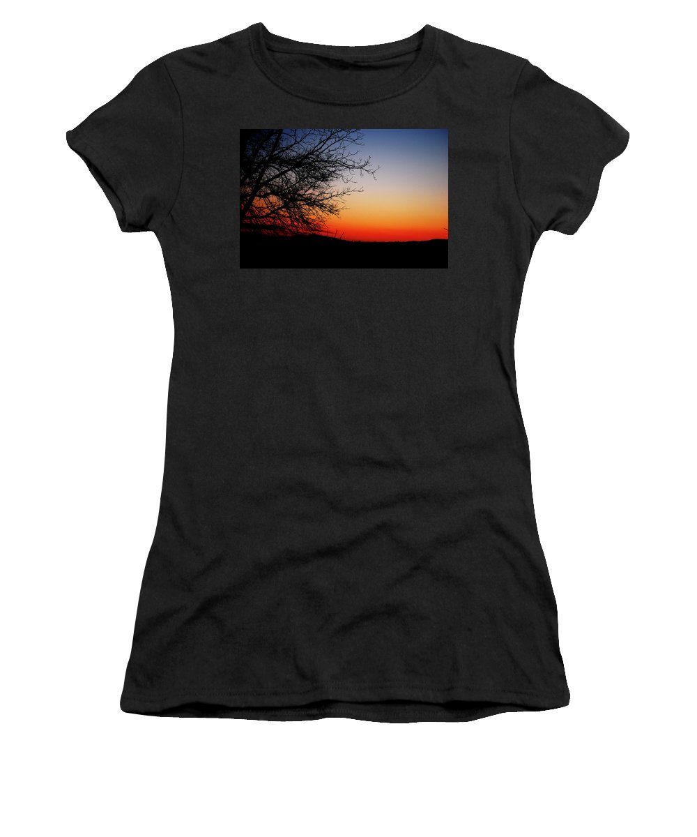 Sunset Women's T-Shirt (Athletic Fit) featuring the photograph Nights Beauty by Lori Tambakis