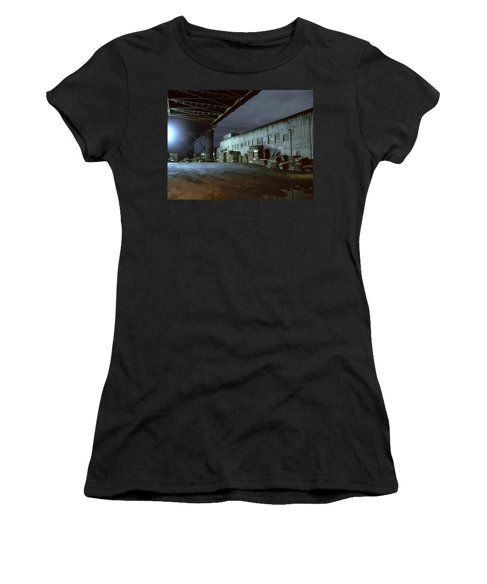 Nightscape Women's T-Shirt (Athletic Fit) featuring the photograph Nightscape 1 by Lee Santa