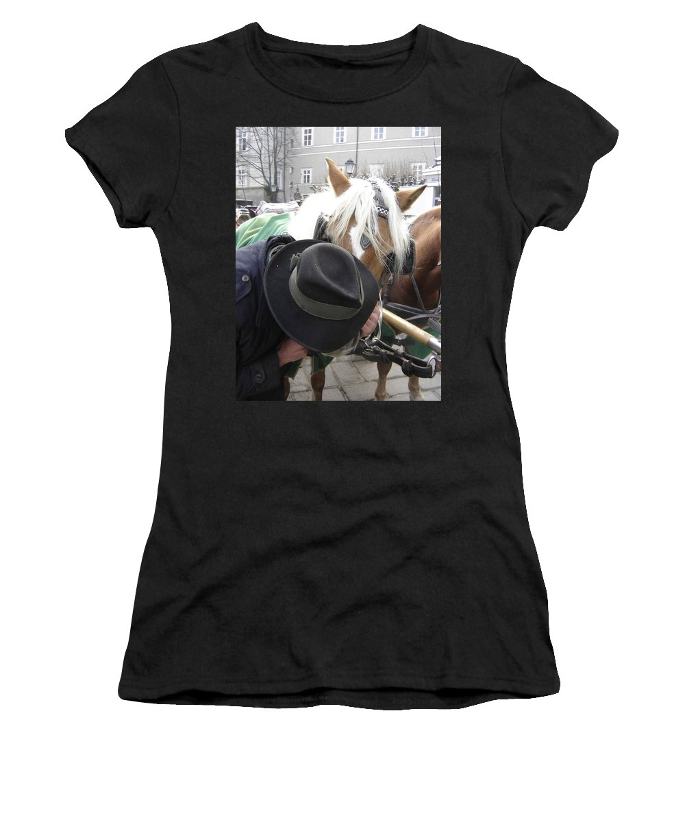 Man Women's T-Shirt (Athletic Fit) featuring the photograph No Secrets by Mary Rogers
