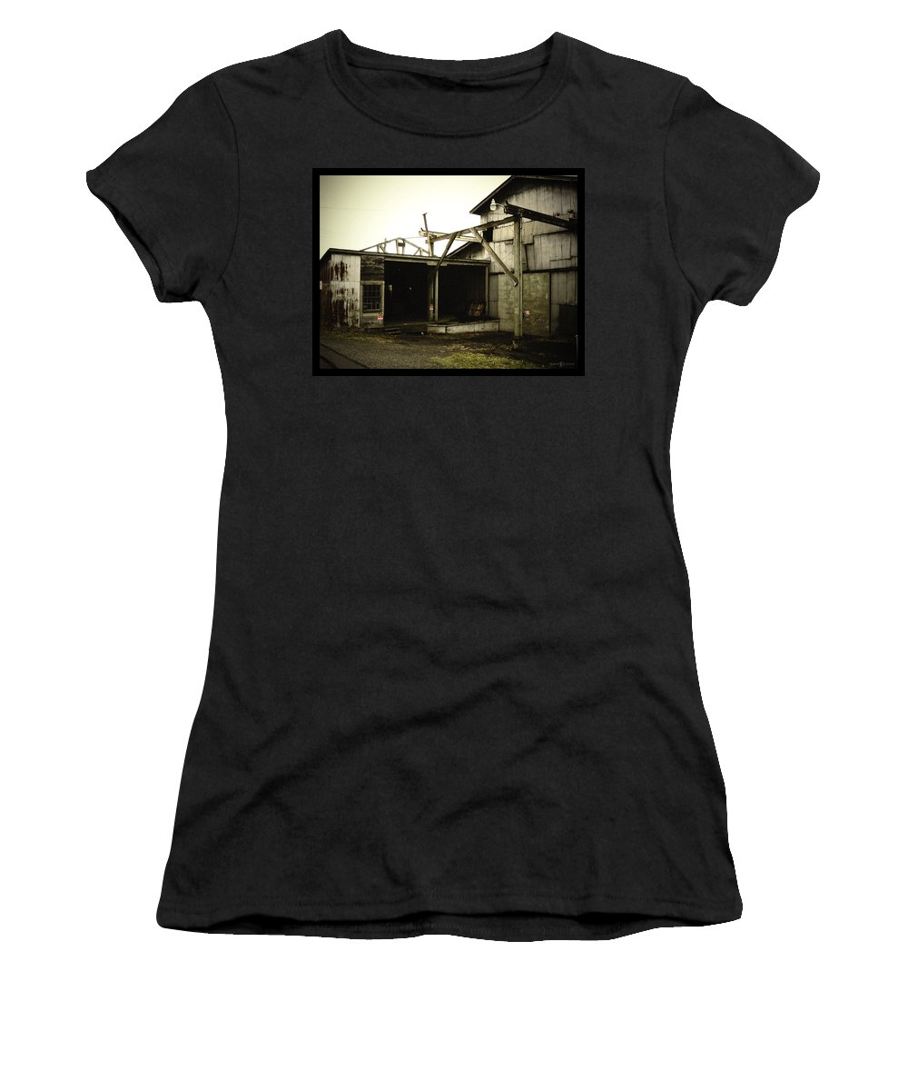 Warehouse Women's T-Shirt (Athletic Fit) featuring the photograph No Trespassing by Tim Nyberg