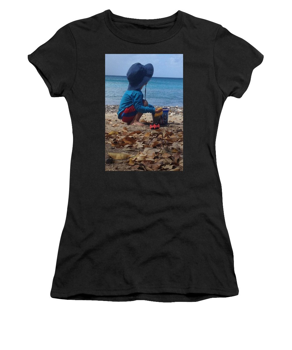 Carefree Women's T-Shirt (Athletic Fit) featuring the photograph No Worries by Sarah Horton