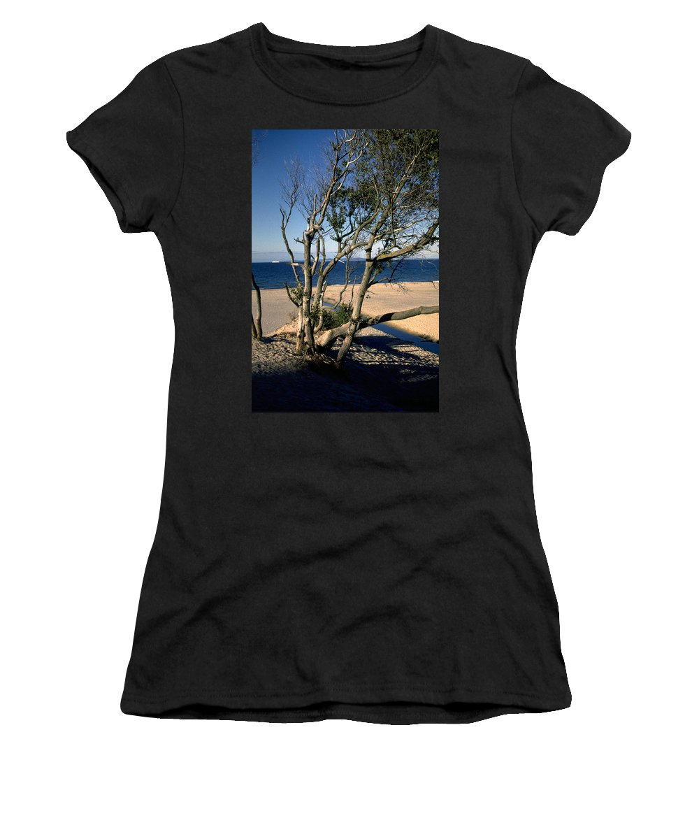 Denmark Women's T-Shirt (Athletic Fit) featuring the photograph Nordic Beach by Flavia Westerwelle