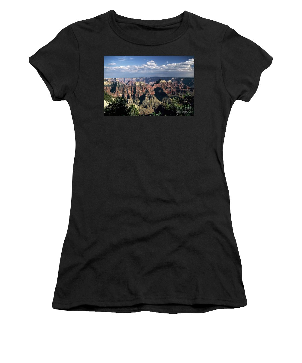 Grand Canyon; National Parks Women's T-Shirt (Athletic Fit) featuring the photograph North Rim by Kathy McClure