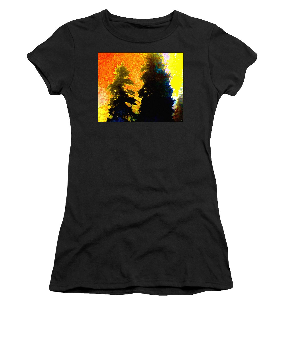 Abstract Women's T-Shirt (Athletic Fit) featuring the digital art Northern Sunrise by Will Borden