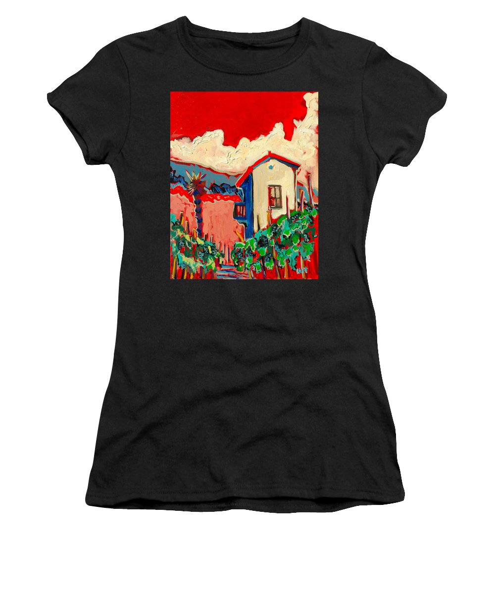 Tuscany Women's T-Shirt (Athletic Fit) featuring the painting Notare by Kurt Hausmann
