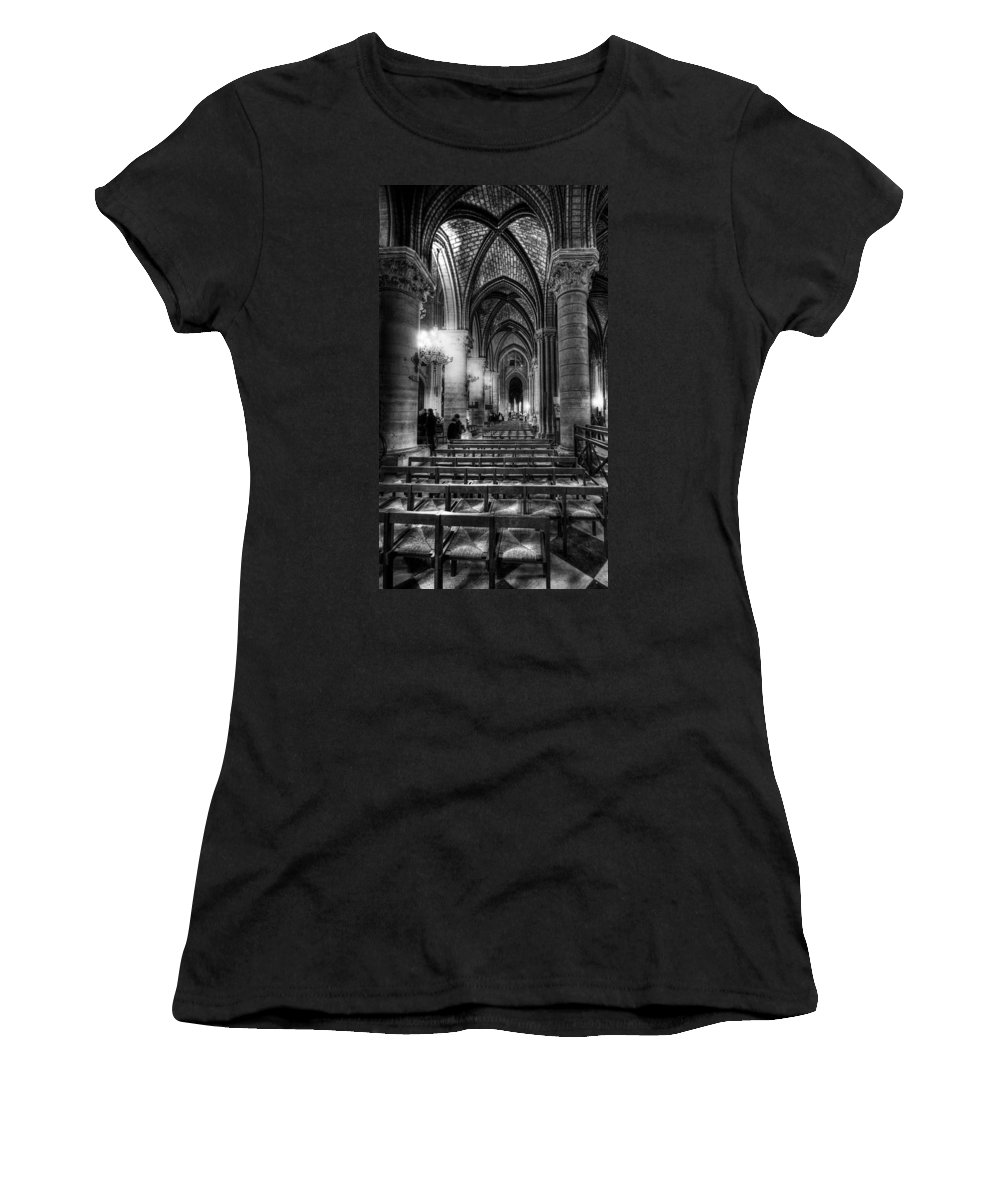 Notre Dame Cathedral Women's T-Shirt featuring the photograph Notre Dame Cathedral by Charuhas Images