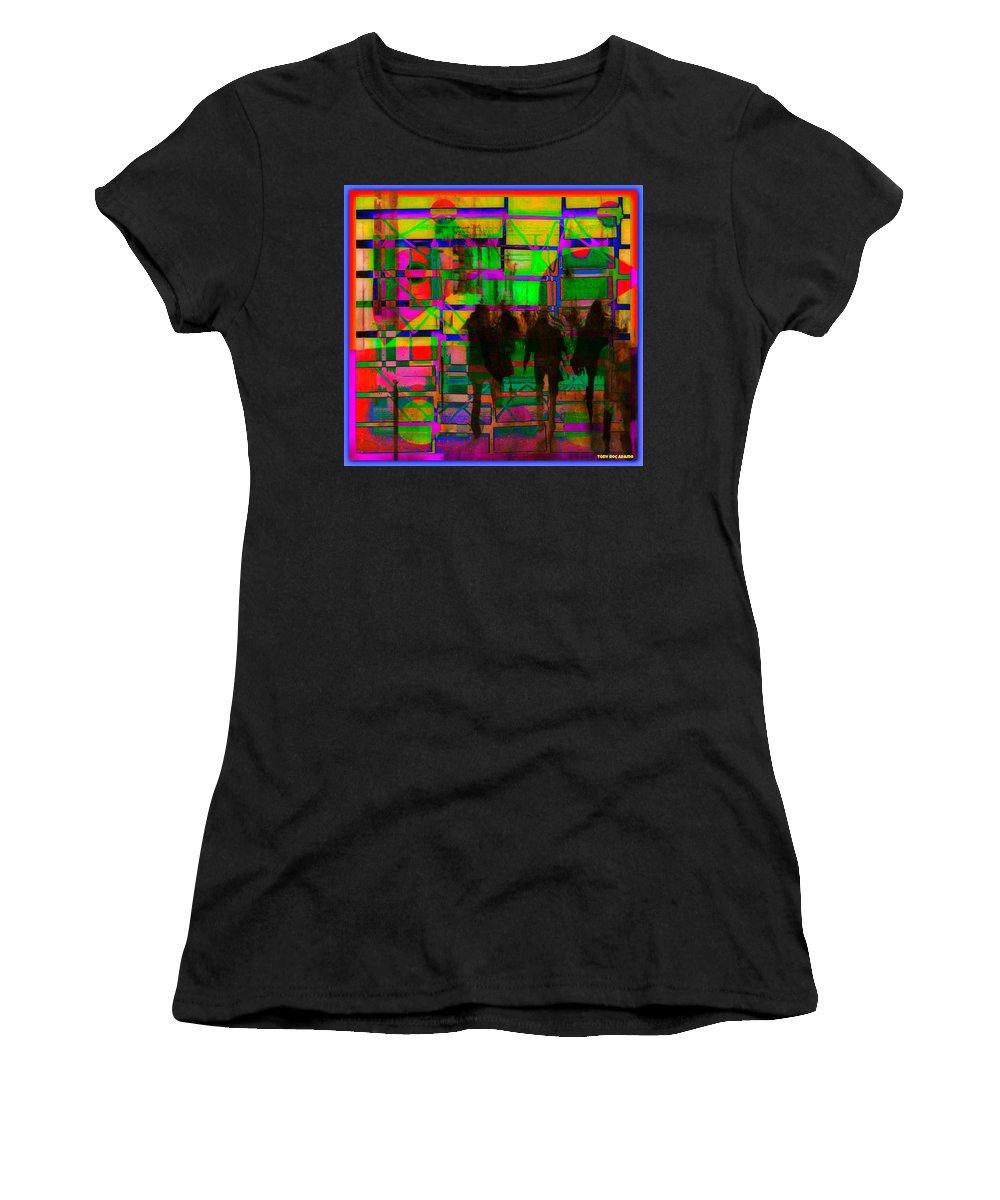 Nu City Beyond Blade Runner Women's T-Shirt featuring the digital art Nu City Beyond Blade Runner by Tony Adamo