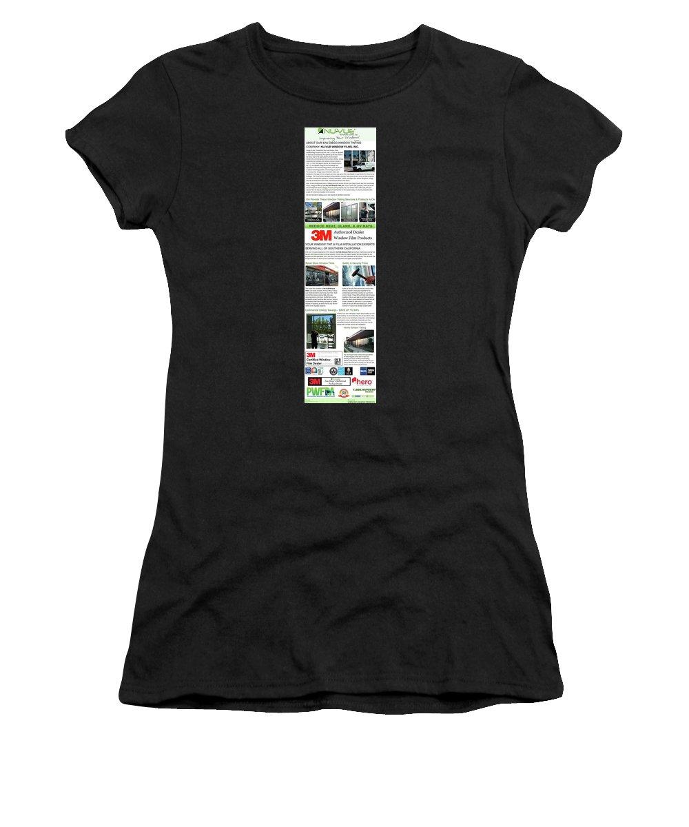 Nuvuewindowfilms Women's T-Shirt (Athletic Fit) featuring the digital art Nu-vue Window Films Infographics by Julie Carter