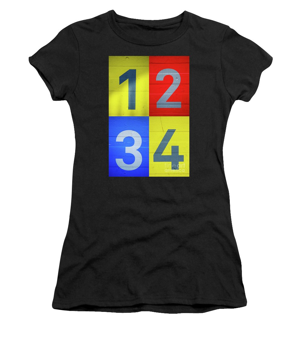 Yellow Women's T-Shirt featuring the photograph Numbers by Benjamin Harte