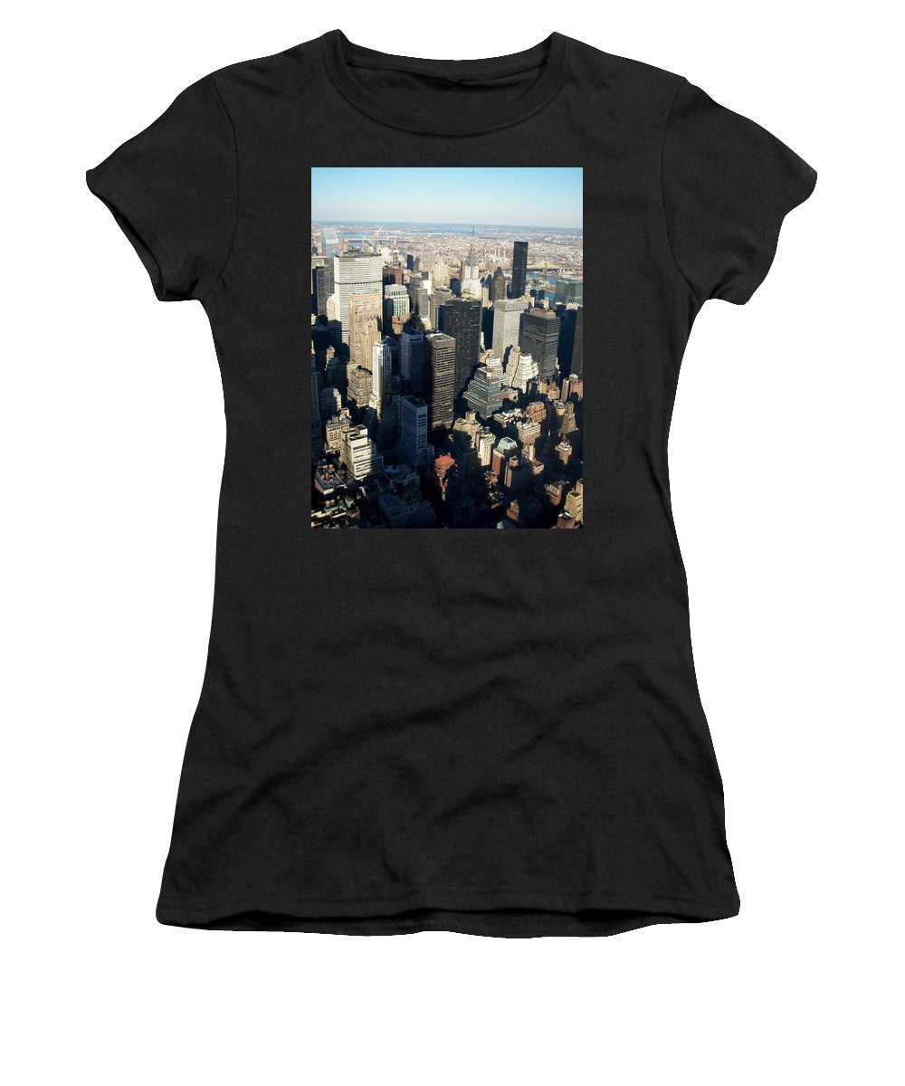 Nyc Women's T-Shirt (Athletic Fit) featuring the photograph Nyc 3 by Anita Burgermeister