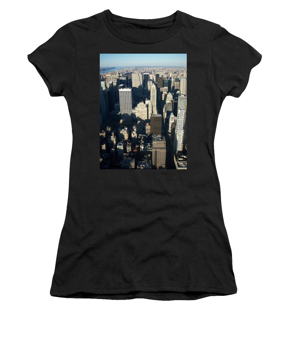 Nyc Women's T-Shirt (Athletic Fit) featuring the photograph Nyc 5 by Anita Burgermeister