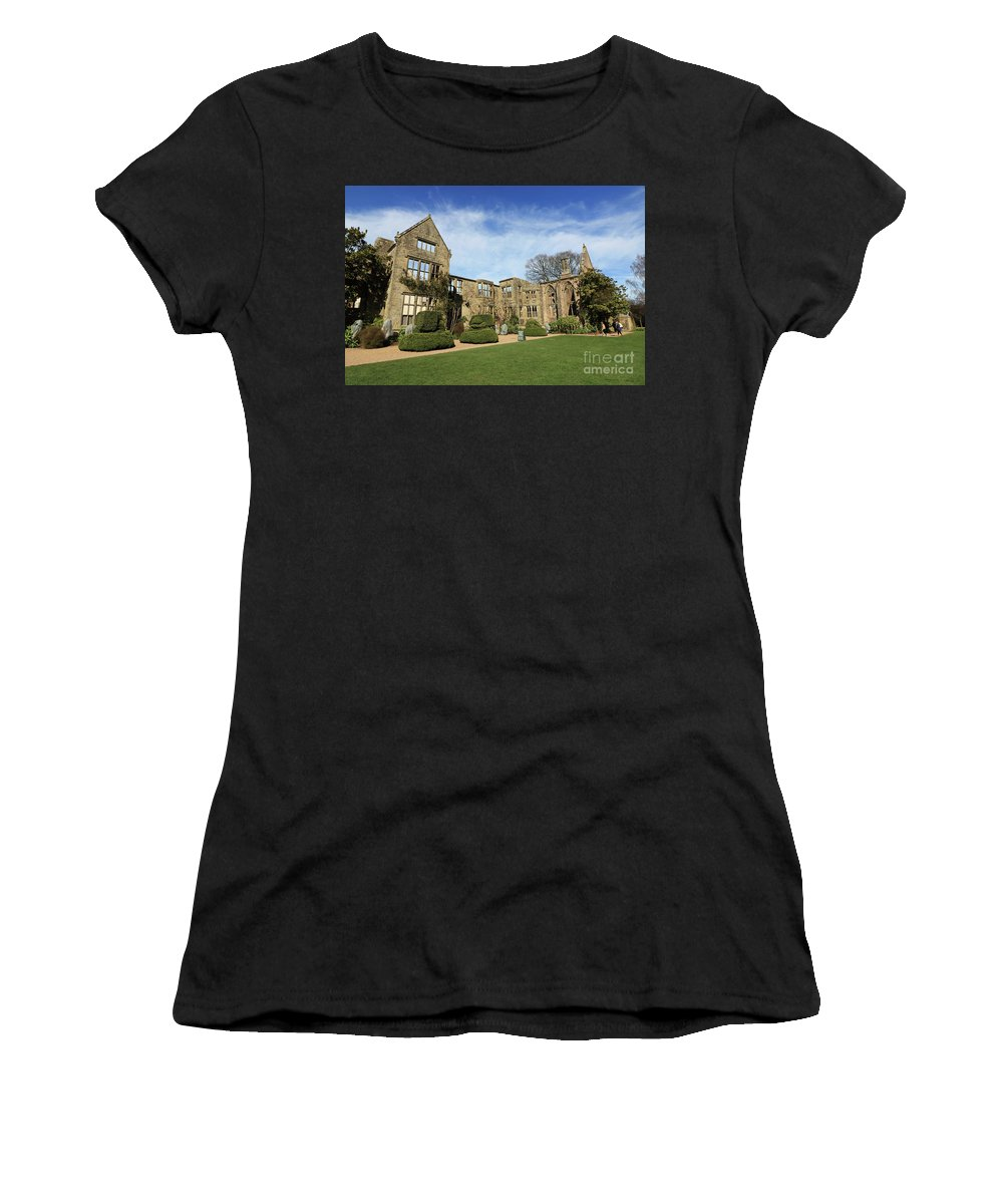 Nymans House Uk Women's T-Shirt (Athletic Fit) featuring the photograph Nymans House Uk by Julia Gavin