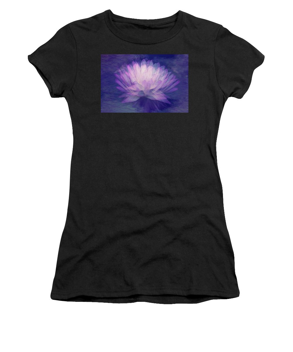 Flower Women's T-Shirt (Athletic Fit) featuring the photograph Obscured by Angela King-Jones