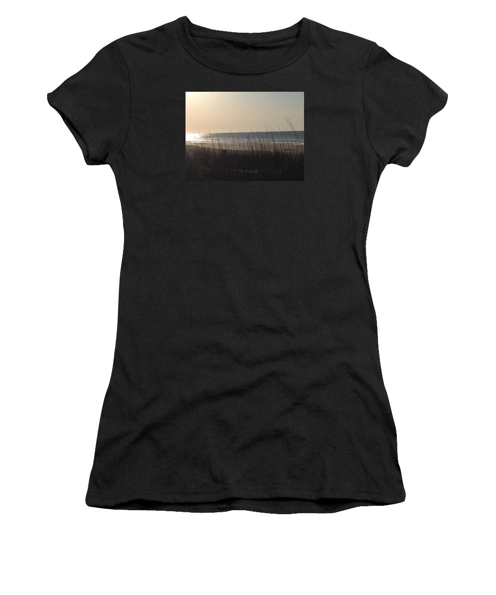Ocean Women's T-Shirt (Athletic Fit) featuring the photograph Ocean Dunes by Carol Anne Dillon