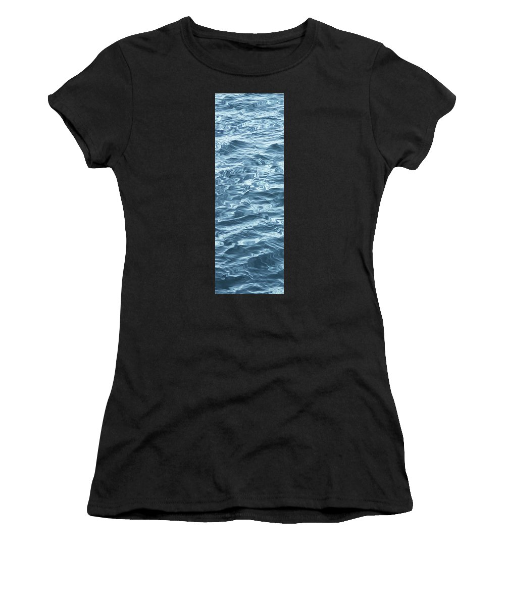 Water Women's T-Shirt featuring the digital art Ocean Waves_1 by Carol Levin