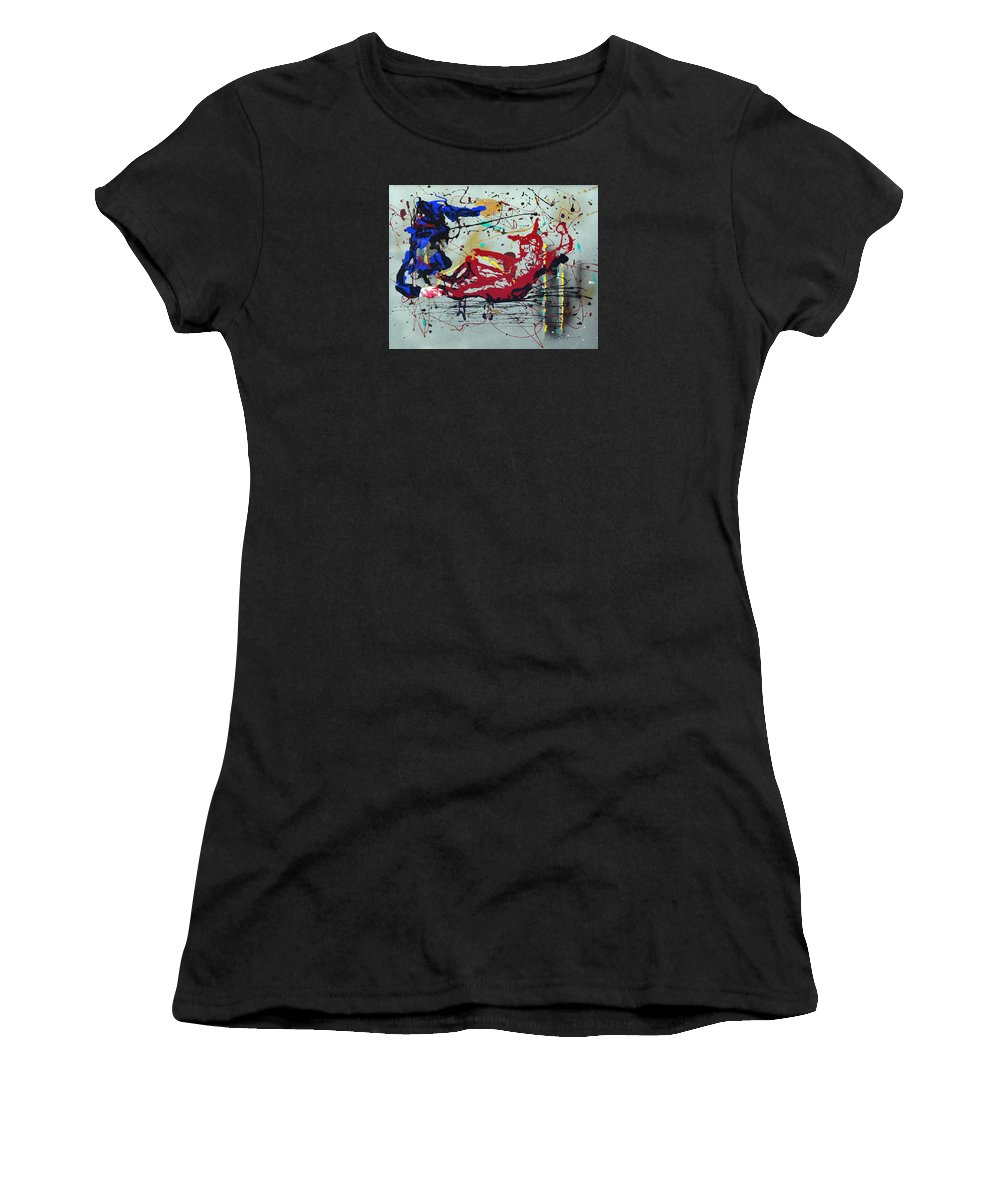 Impressionist Painting Women's T-Shirt (Athletic Fit) featuring the painting October Fever by J R Seymour
