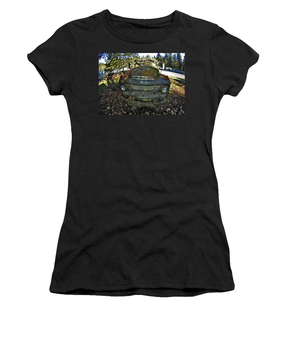 Truck Women's T-Shirt (Athletic Fit) featuring the photograph O'l Truck by Sara Stevenson