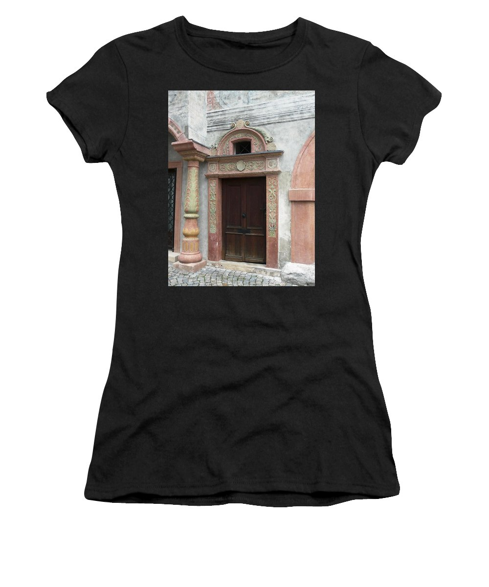 Old Women's T-Shirt featuring the photograph Old Austrian Door by Valerie Ornstein