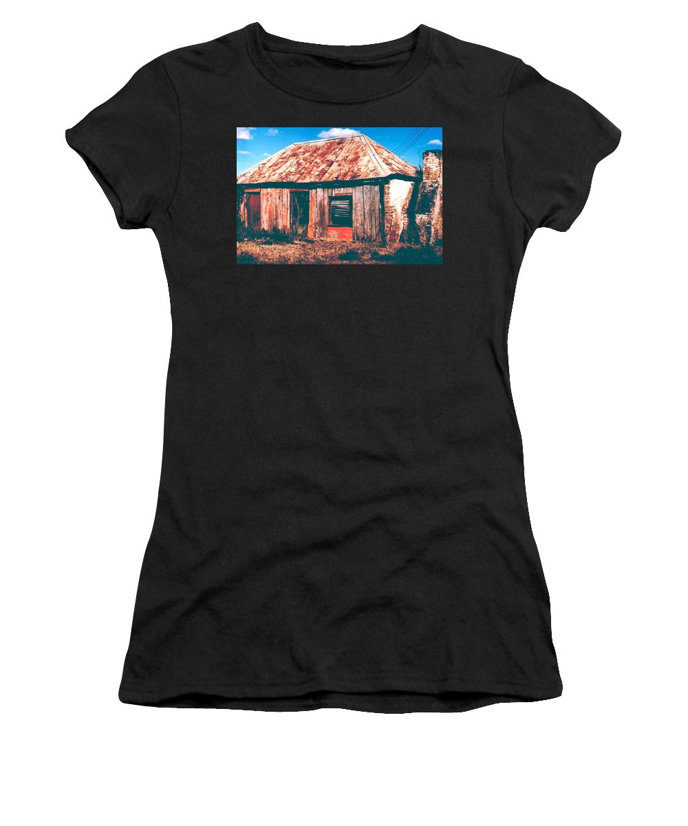 Australia Women's T-Shirt (Athletic Fit) featuring the photograph Old Farm House by Gary Wonning