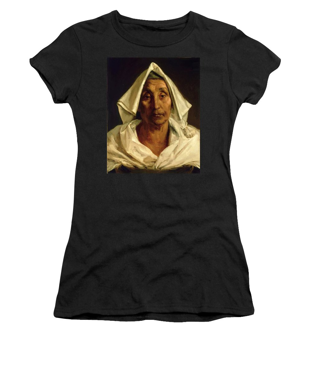 Old Women's T-Shirt (Athletic Fit) featuring the painting Old Italian Peasant by Gericault Theodore