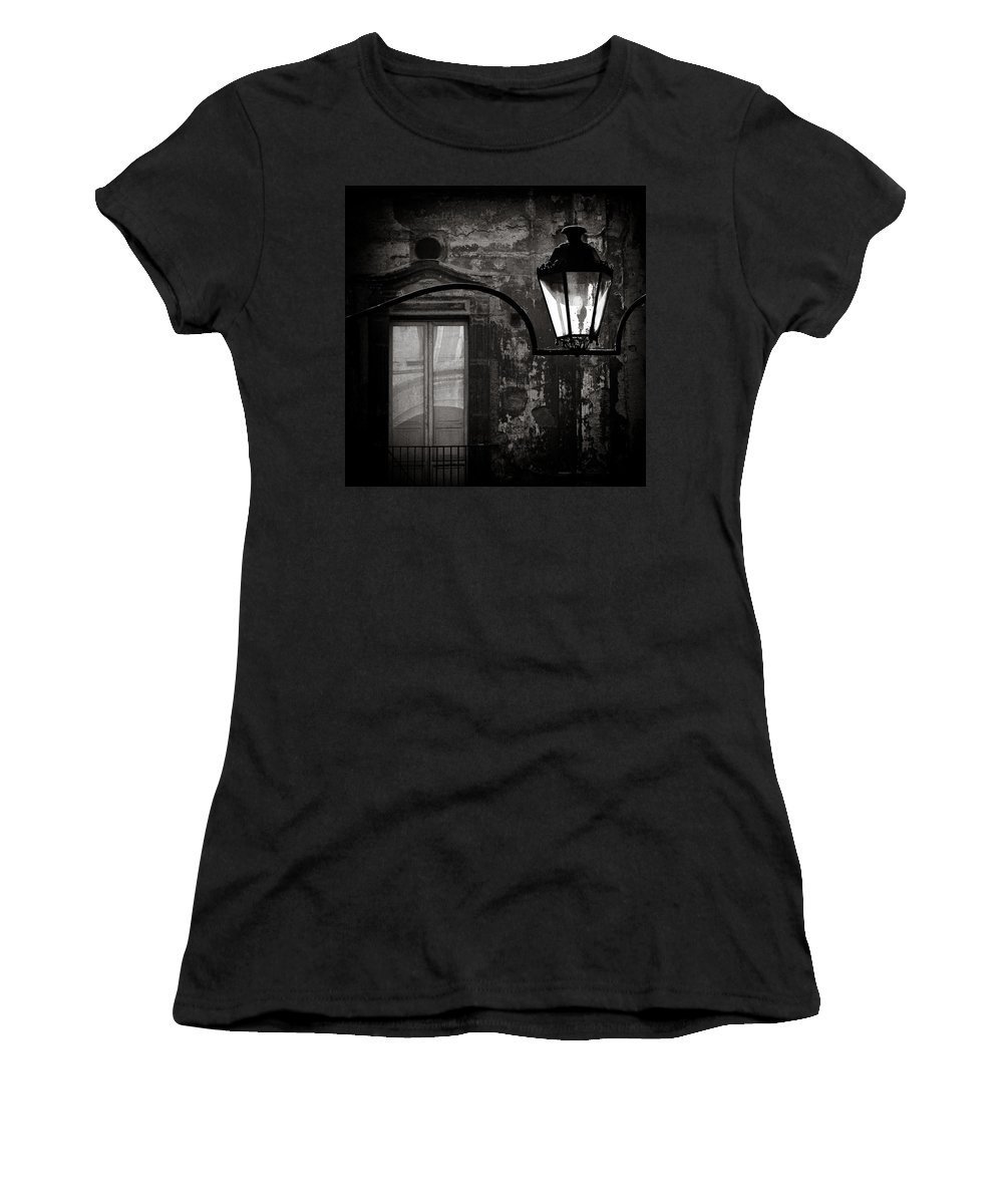 Naples Women's T-Shirt (Athletic Fit) featuring the photograph Old Lamp by Dave Bowman