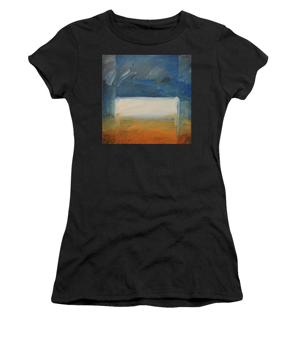 Rothko Women's T-Shirt (Athletic Fit) featuring the painting Old Macrothko Had A Farm by Tim Nyberg